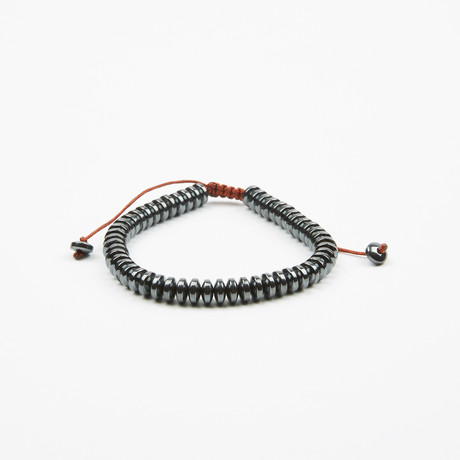 Jean Claude Jewelry // Disc Shape Hematite Shamballa Bracelet // Gunmetal