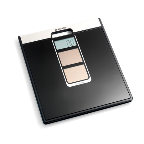 Solar Powered Digital Bathroom Scale // Black + Silver