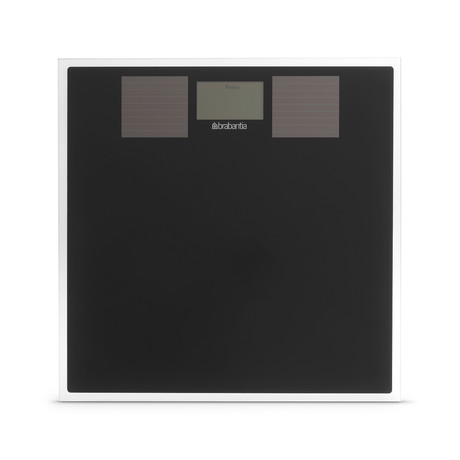 Solar Powered Digital Bathroom Scale // Black