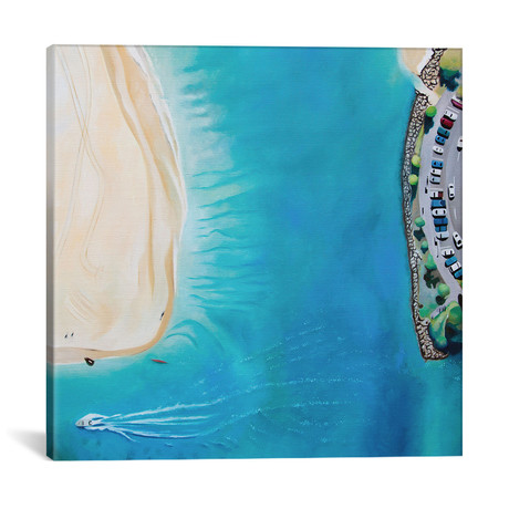 "Noosa Beach // Antony Squizzato (18""W x 18""H x 0.75""D)"