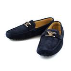 Armani // Suede Driving Shoe // Blue (US: 6)