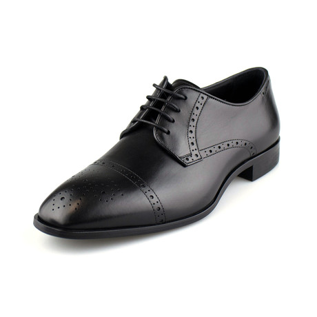 Armani // Cap-Toe Derby // Black (US: 10)