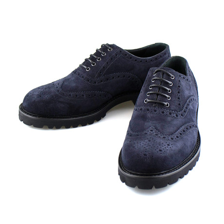 Armani // Suede Wingtip Oxford // Blue (US: 10)