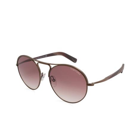 Women's Jessie Aviator Sunglasses // Matte Dark Brown + Brown Gradient