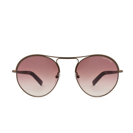 Men's Jessie Aviator Sunglasses // Matte Dark Brown + Brown Gradient