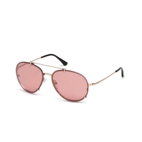 Men's Dickon Sunglasses // Gold + Pink Mirror