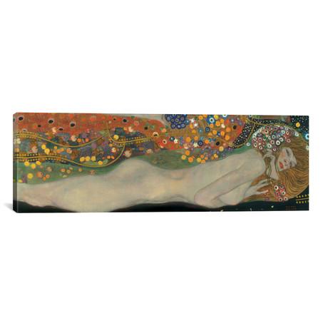"""Sea Serpents, Detail IV // Gustav Klimt (60""""W x 20""""H x 0.75""""D)"""