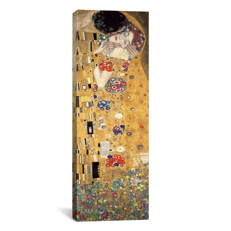 "The Kiss, Cropped Vertical // Gustav Klimt (20""W x 60""H x 0.75""D)"