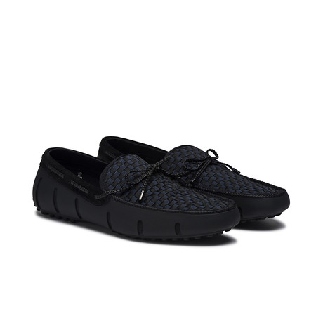 Lace Lux Loafer Woven // Black