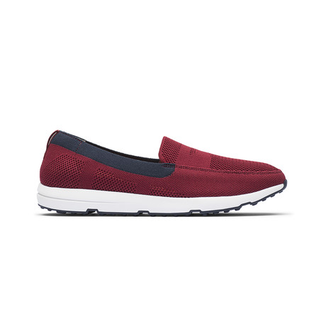 Breeze Leap Knit Penny // Deep Red + Navy