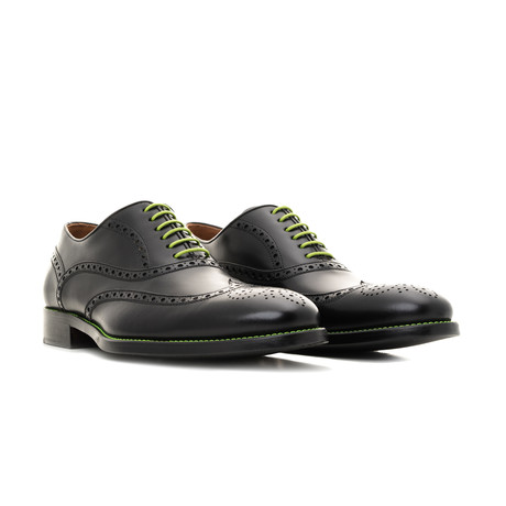 Calf Leather Oxford // Black + Green