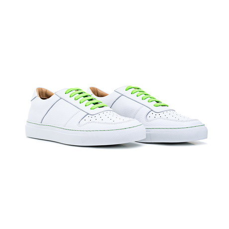 Sneaker Smooth Leather // White + Green