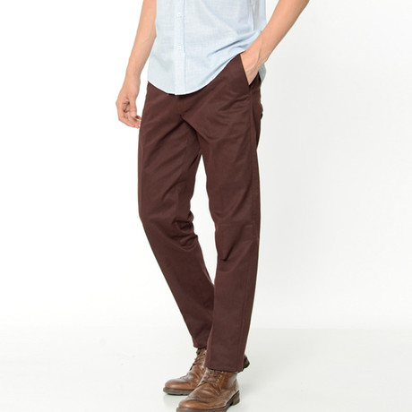 Caleb Trousers // Burgundy (Euro: 42)