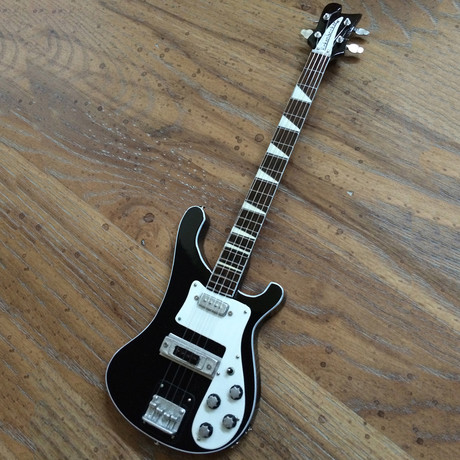 RUSH // Geddy Lee 4001 Bass Miniature Guitar Replica