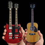 Jimmy Page // Mini Guitar Replicas // Set of 2