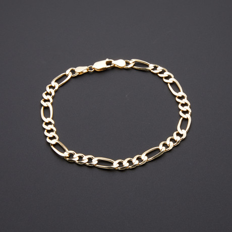6 mm Heavyweight Figaro Chain Bracelet