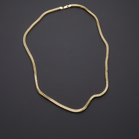 "Thick Franco Chain Necklace // 4mm (28"")"