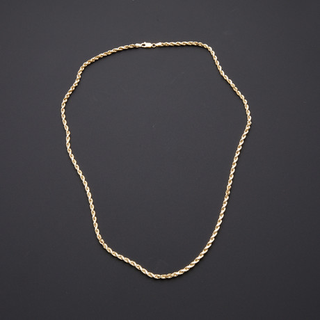"Rope Chain Necklace // 3mm (22"")"