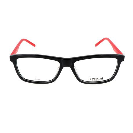PLD-D307-1Q4 Optical Frame // Black + Red