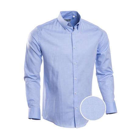 Cabrera Plain Slim Fit Dress Shirt // Maya Blue (S)