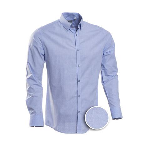 Ward Patterned Slim Fit Dress Shirt // Blue (S)