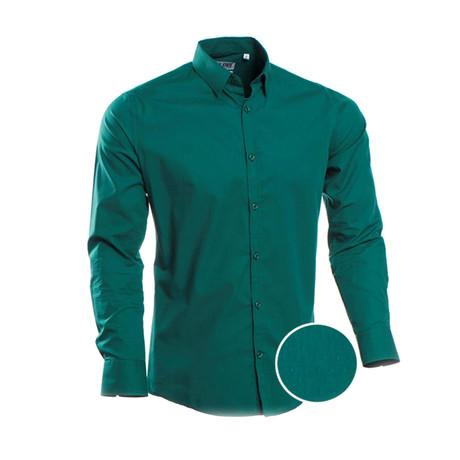 Slim Fit Dress Shirt // Green (S)