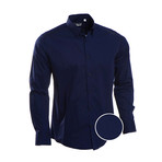 Slim Fit Dress Shirt // Navy (M)