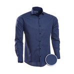Oneill Patterned Slim Fit Dress Shirt // Navy (XL)