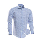 Cordova Patterned Slim Fit Dress Shirt // Floral Blue (XL)