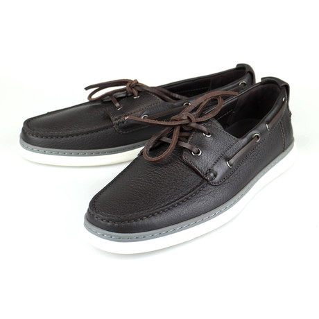 Leather Casual Boat Shoes // Brown