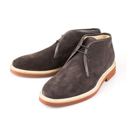Ermenegildo Zegna // Suede Chukka Boots // Brown (7.5)