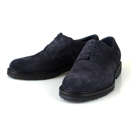 Ermenegildo Zegna // Suede Casual Oxfords // Blue (US: 10)