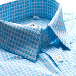 Bauer Patterned Slim Fit Dress Shirt // Powder Blue (M)