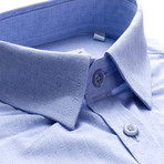 Ward Patterned Slim Fit Dress Shirt // Blue (L)