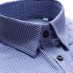 Hairline Stripe Slim Fit Dress Shirt // Soft Blue (M)