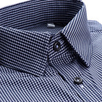 Ortiz Checkered Slim Fit Dress Shirt // Navy (XL)