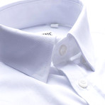 Solid Slim Fit Dress Shirt // White (M)