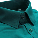 Slim Fit Dress Shirt // Green (S)