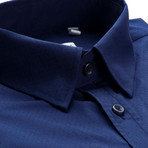 Slim Fit Dress Shirt // Navy (XL)