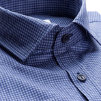 Oneill Patterned Slim Fit Dress Shirt // Navy (S)