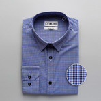 Hairline Stripe Slim Fit Dress Shirt // Soft Blue (XL)