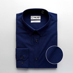 Slim Fit Dress Shirt // Navy (S)