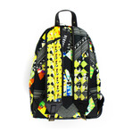 Versace Versus // Pattern Backpack // Yellow Back