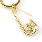 Lion Head Key Chain // Gold