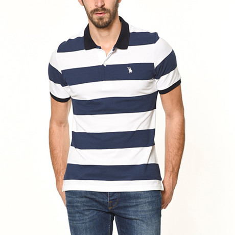Polo // Navy Stripe (S)