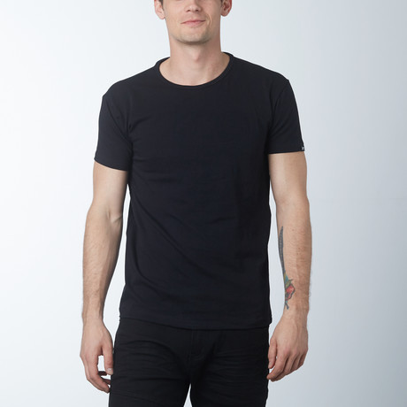 Crew Neck T-Shirt // Black (S)
