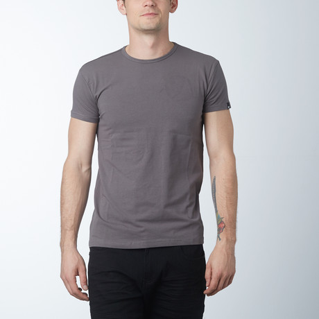Crew Neck T-Shirt // Taupe