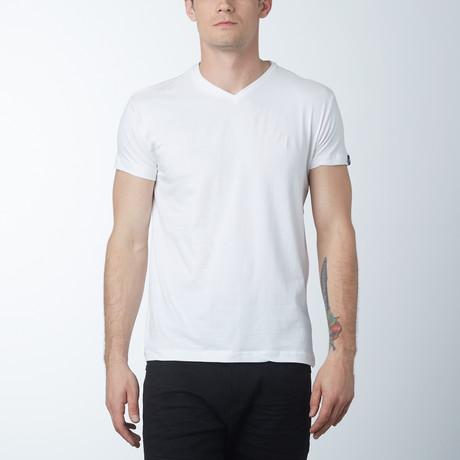 V-neck T-Shirt // White