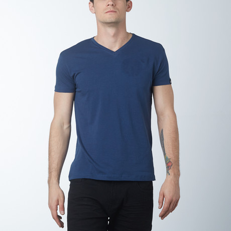 V-neck T-Shirt // Dark Denim