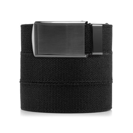 Canvas Belt (Black + Gunmetal Buckle)